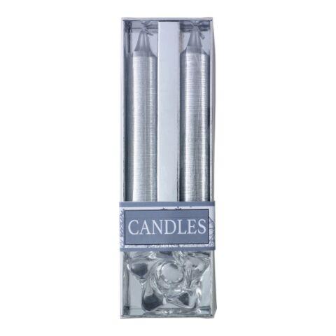 Två glitterljus med ljusstake i glas