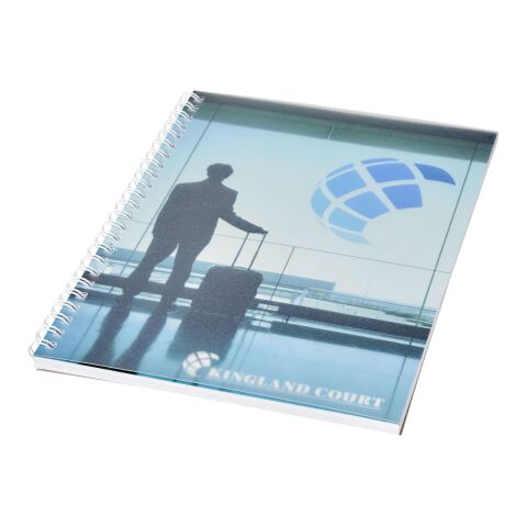 Desk-Mate® wire-o A5 anteckningsblock PP yttre vit | 50 Blatt | Inget reklamtryck | Inte tillgängligt | Inte tillgängligt