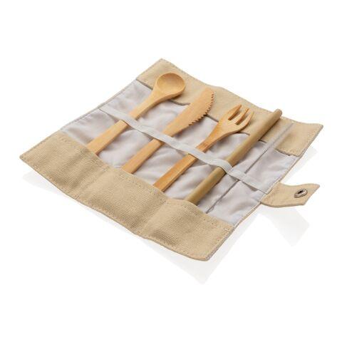 Återanvändningsbart ECO bestick-set i bambu