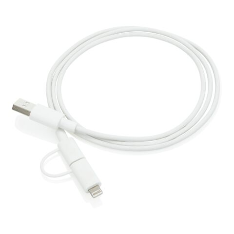 2-i-1-kabel med Apple Lightning-kontakt