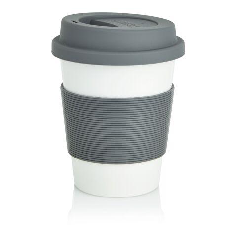 PLA-kaffemugg grå-vit | Inget reklamtryck | Inte tillgängligt | Inte tillgängligt